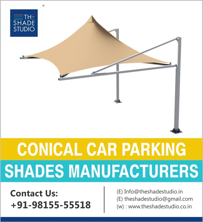 Conical Car Parking Shades in Chandigarh Mohali Panchkula